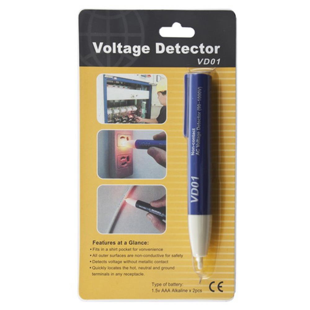 1pc LED Light AC Electric non-contact Voltage Tester Volt tester Alert Pen Detector Sensor 90-1000V electrical voltage tester(China (Mainland))