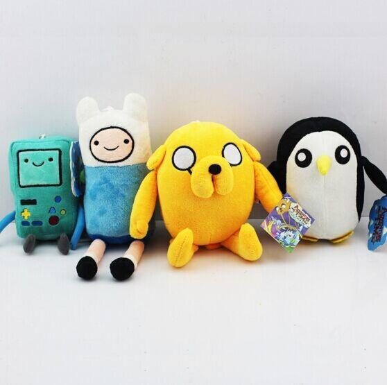 Adventure time Plush Toys 4style Jake Finn Beemo BMO Penguin Gunter Stuffed Animals Plush Dolls Soft Toys Free Shipping(China (Mainland))