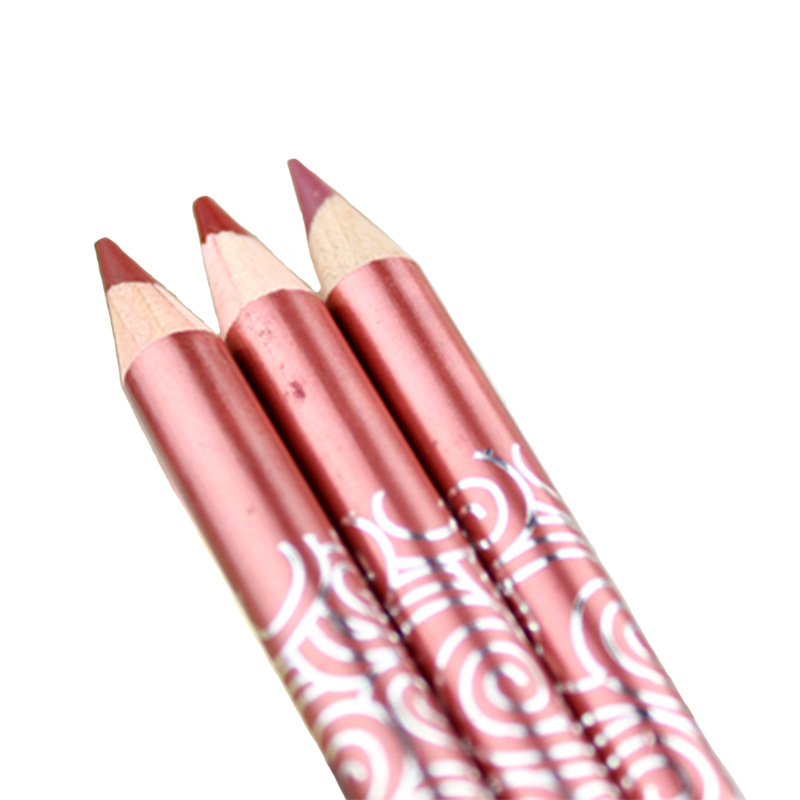 3pc/Lipstick Long Lasting Liner Pencil Ruby Woo Kiss Proof Lipstick Waterproof Gloss Matte Red Pencil Makeup Lip Pencil(China (Mainland))