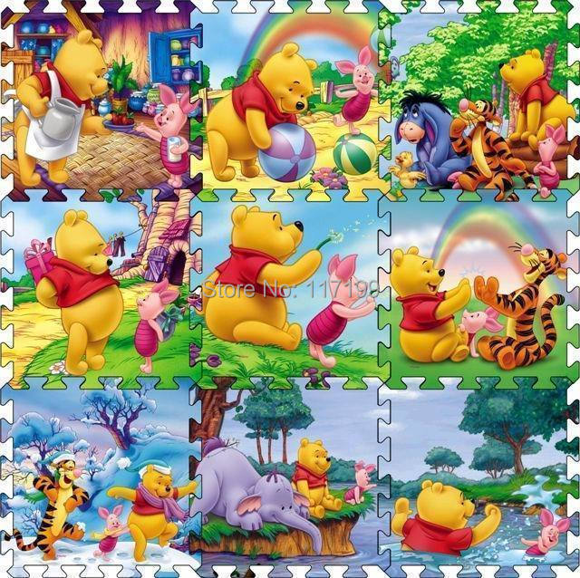 Hot sale 9pcs/ set Crawling Rug Cartoon Floor Mat Baby's Climb Blanket Game Carpet Eva Foam Puzzle Mat DD1001(China (Mainland))