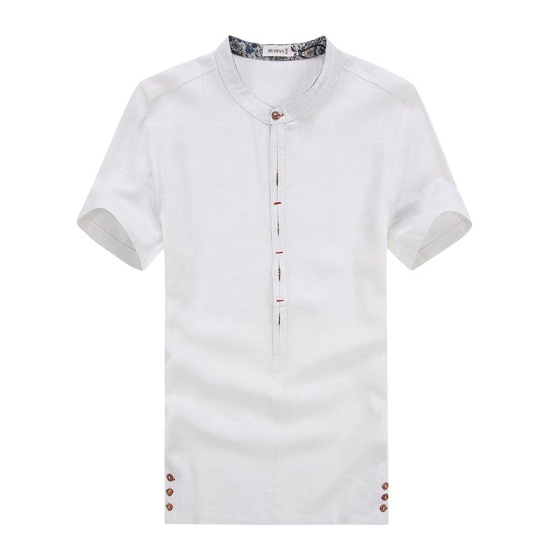online kaufen gro handel herren kurzarm leinen shirts aus. Black Bedroom Furniture Sets. Home Design Ideas