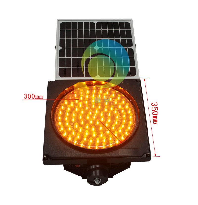 Factory price 300mm amber traffic blinker solar energy LED flashing warning traffic light(China (Mainland))
