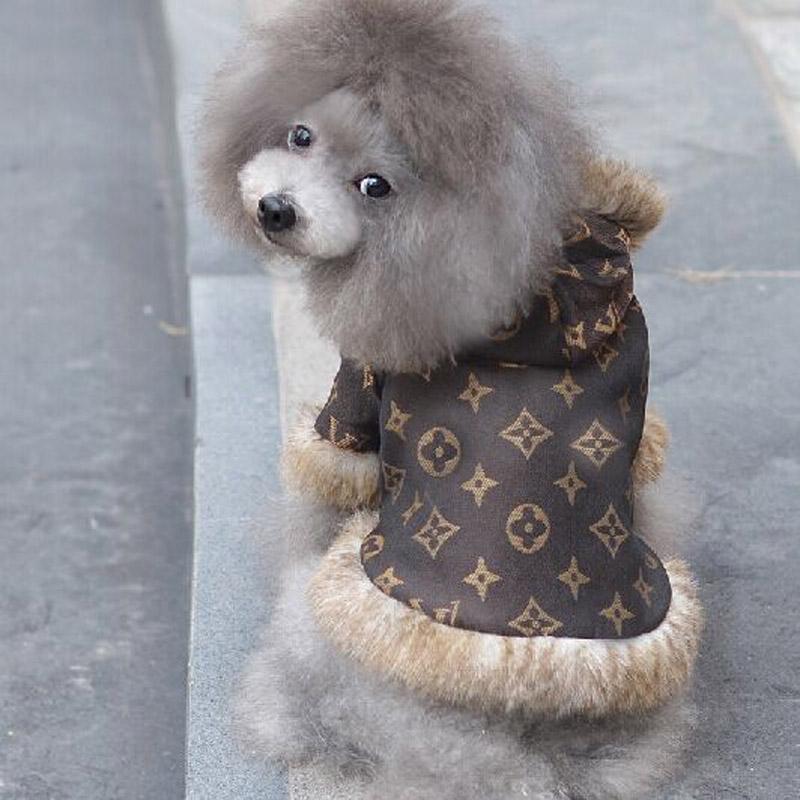 Köpek Giyim XS Boyutu Pet Giysi Küçük Köpekler için Klasik Pet Coats Kahverengi Köpek Ceketler Sıcak ve Moda Pet Köpek giysi(China (Mainland))