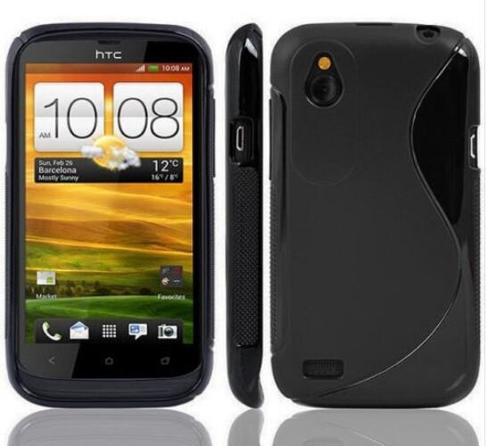S LINE Anti Skiding Gel TPU Slim Soft Case Back Cover For HTC Desire X Proto T328e / Desire V T328W Rubber Silicone Fundas(China (Mainland))