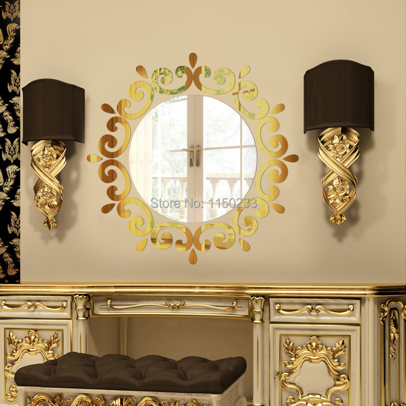 Acrylic Wall Mirror Sticker ,Decorative Home 3D Crystal Mirror Sticker ...
