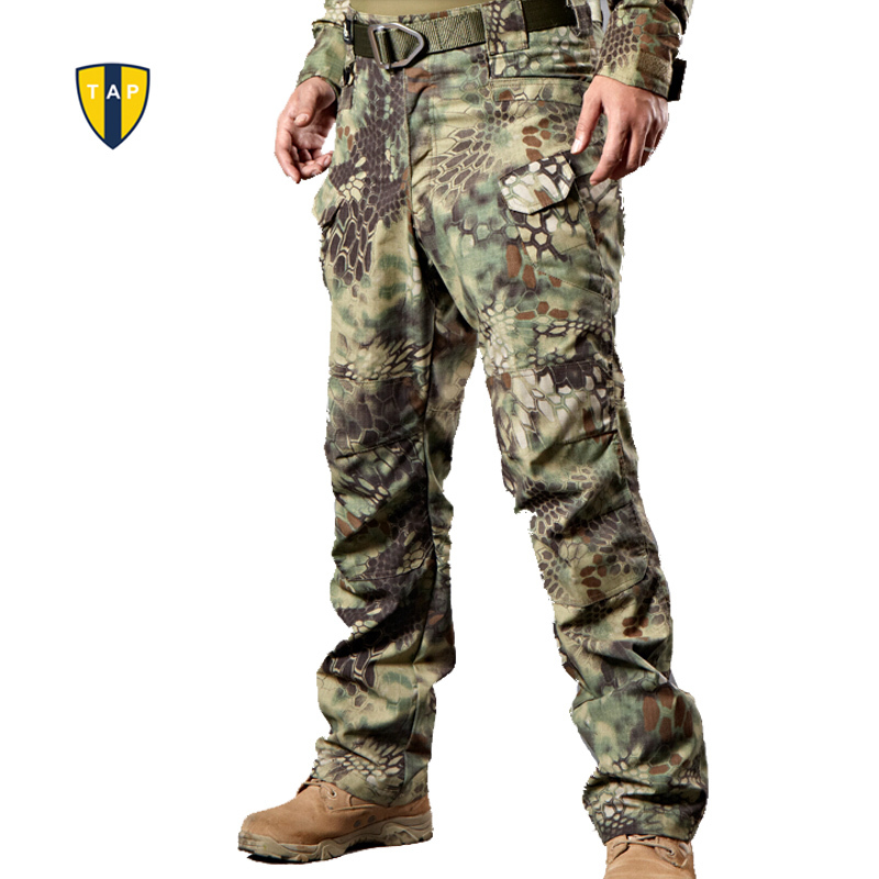 TAP Military Tactical Cargo Outdoor Pants Men Combat SWAT Army Training Military Pants Cotton Hunting Outdoors Sport Trousers(China (Mainland))