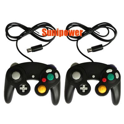 2 pcs Black Shock Game Controller Pad for Nintendo Gamecube GC Wii NEW(China (Mainland))