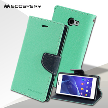 Buy Sony Xperia M2 Mercury GOOSPERY Fancy Diary Magnetic Leather Stand Case Sony Xperia M2 D2303 D2305 D2306 / M2 Dual D2302 for $7.19 in AliExpress store