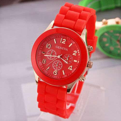 Hot sale of Brand New Fashion Movement Silicone Watches Geneva Jelly Watches/quartz Watch Men sports watches<br><br>Aliexpress
