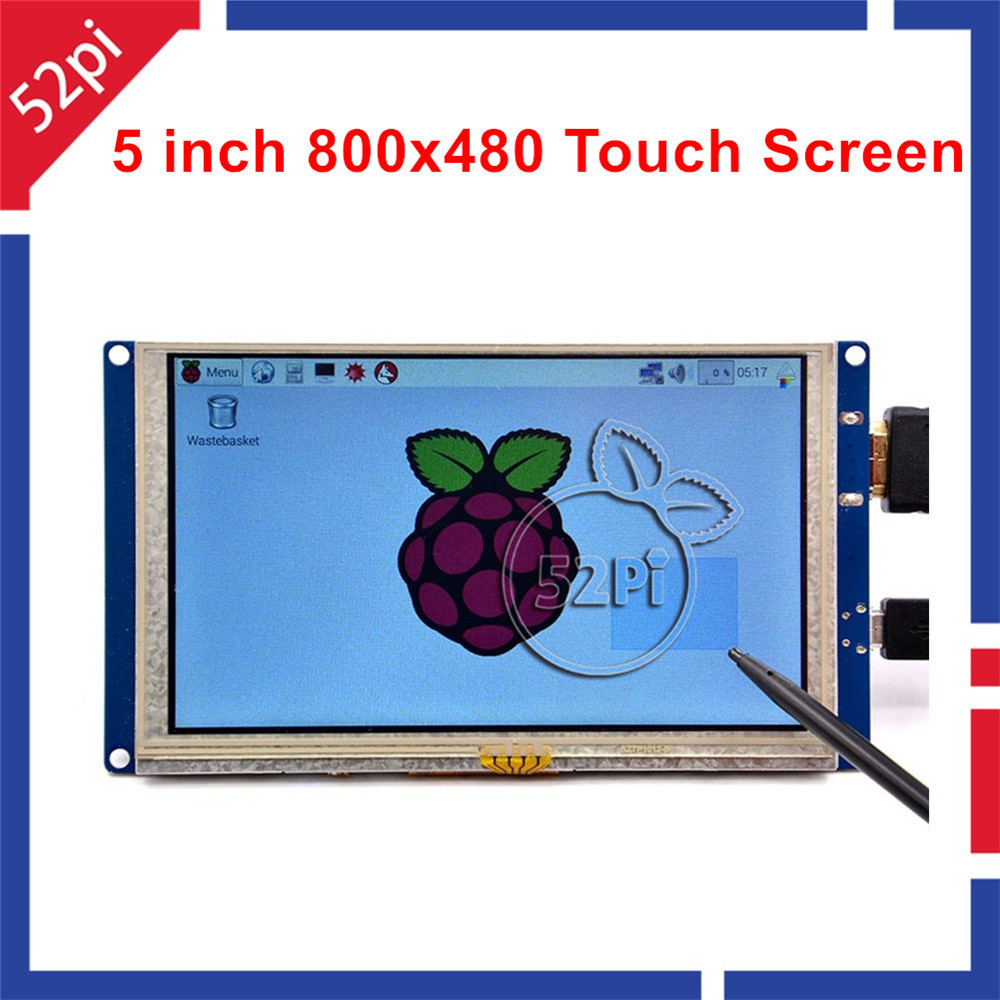 5 inch LCD HDMI Touch Screen Display TFT 800*480 for Banana Pi Raspberry Pi 3 / 2 Model B / B+ plug and play free driver(China (Mainland))