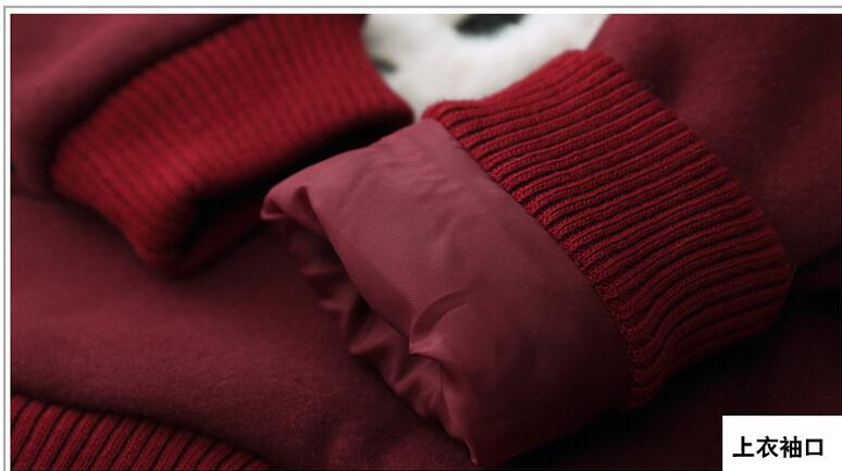 Скидки на Горячая! Новый продукт хан издание оптово-цю дон девушки хлопка с длинным рукавом руно костюм-тройку чистый цвет мультфильм панда с капюшоном снаряжение
