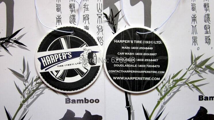 Free shipping,2014 hot car perfume manufacturer hanging paper car air fresheners wholesale(China (Mainland))