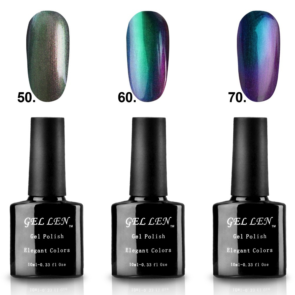 Gel Len 3pcs/lot Chameleon Change Color Gel Polish Soak-off LED UV Nail Art Gel Long Lasting Polish Newest Hot Sale 50% Off(China (Mainland))
