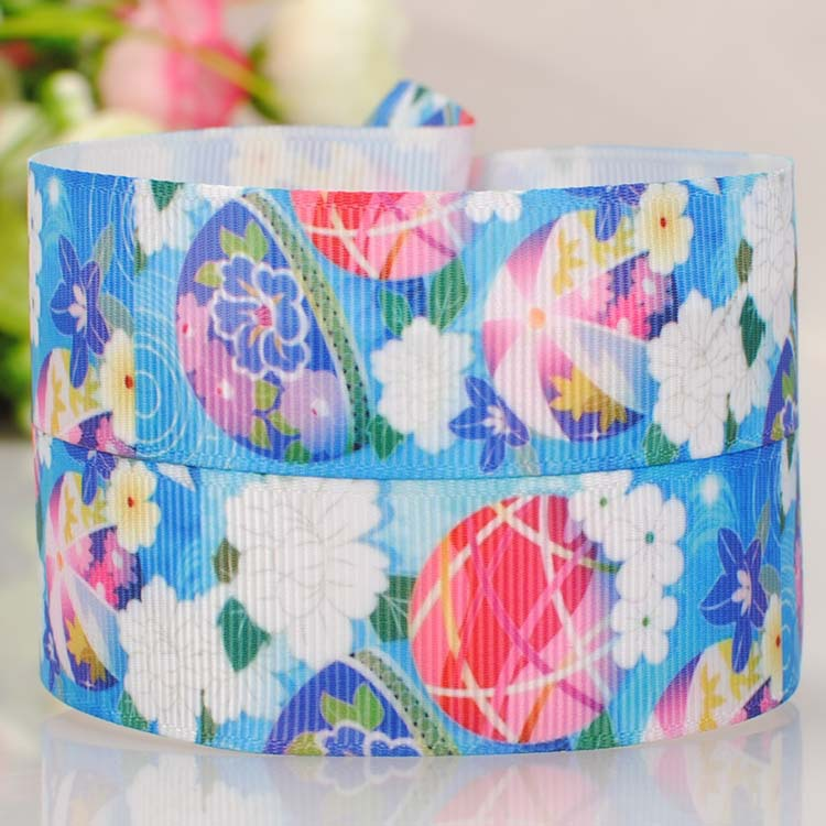 22mm Color Printing Ribbon 7 8 Japanese Wind Bells Blue