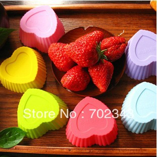 Гаджет  18PCS Silicone Cake Liner Muffin Case Baking Mold Cup Cupcake Heart Shape None Дом и Сад