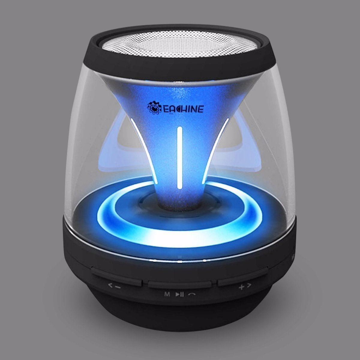 New LED Light Beautiful Wireless Bluetooth Speaker Eachine Vivid Jar Portable Speaker 4 Mode Lighting Super Quality(China (Mainland))