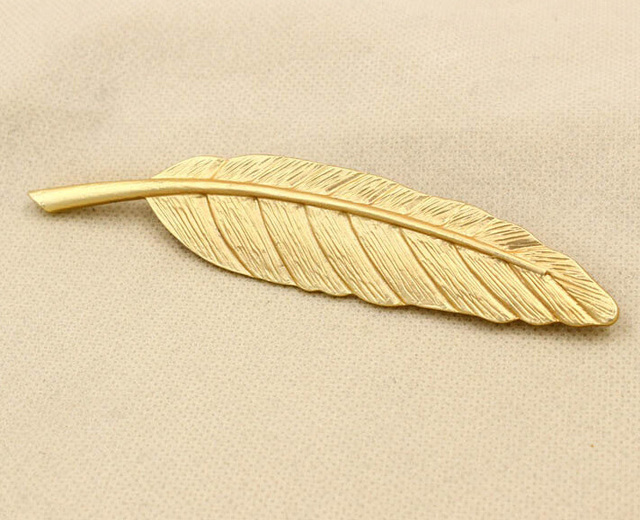Gold Feather Suit Women Broaches Leaves For Women