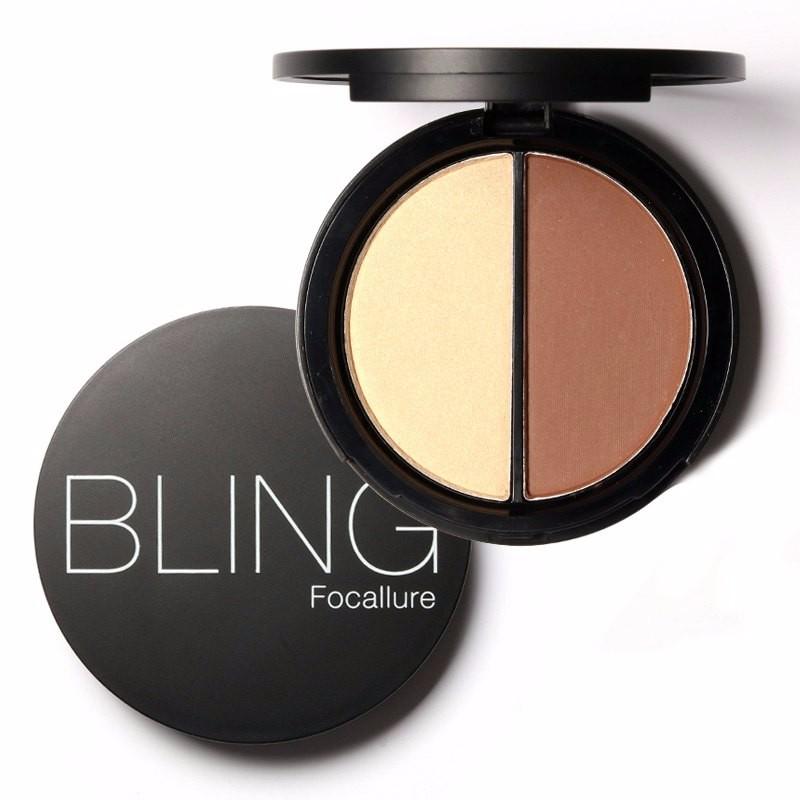 Bling Focallure Shimmer Pó Corretivo Maquiagem Bronzers e Marcadores Highlighter para Face Palette Batom Compõem Contorno