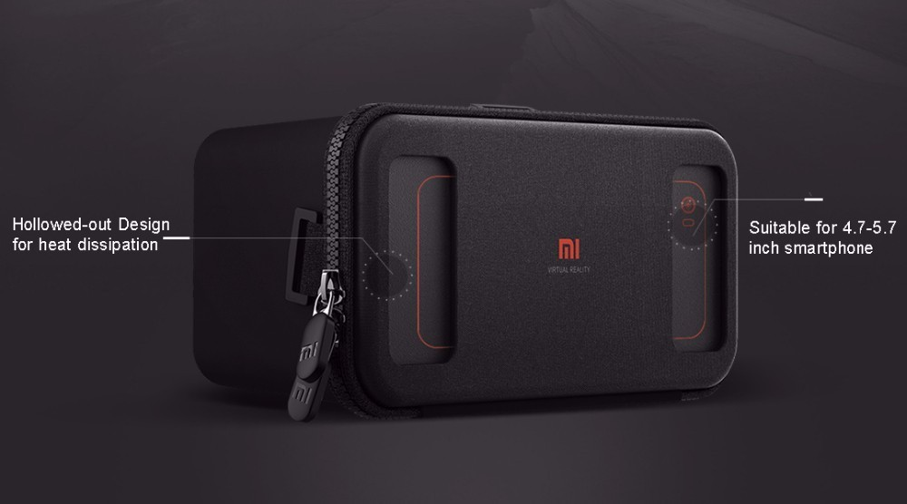 Original Xiaomi VR BOX 2016 Google VR Glasses Virtual Reality 3D Glasses Headset For 4.7 – 5.7 inch Smartphone