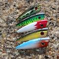 5Pcs Lot 6 6g 6cm Popper Fishing Lure Japanese 3D Eyes Fishing Surface Lure Popper Top