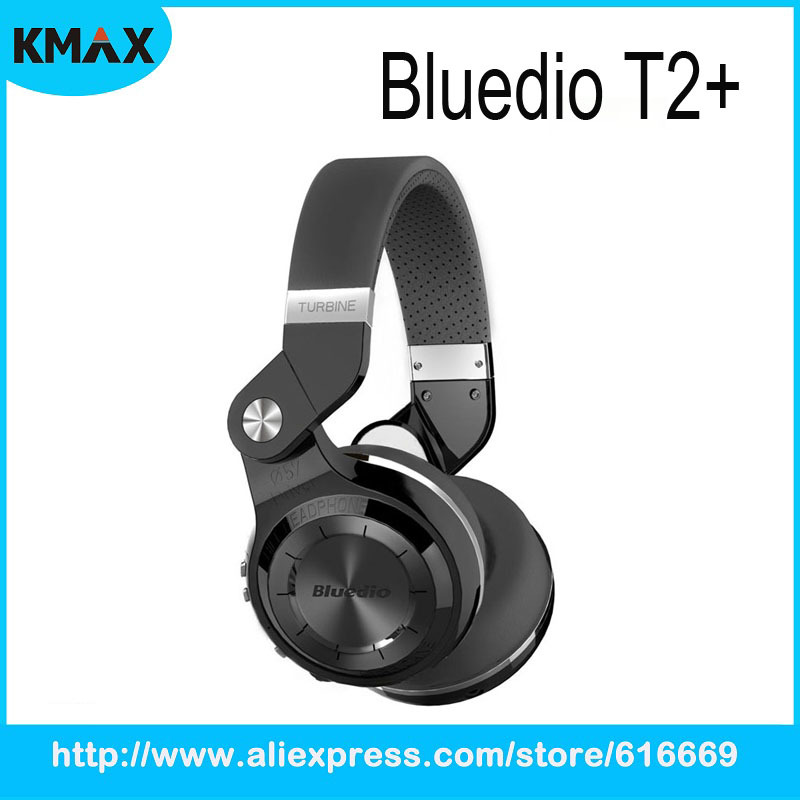 Bluedio T2+ Fashionable Foldable Over the Ear Bluetooth Headphones BT4.1 Support FM Radio SD Card Functions Music and Phone Call<br><br>Aliexpress
