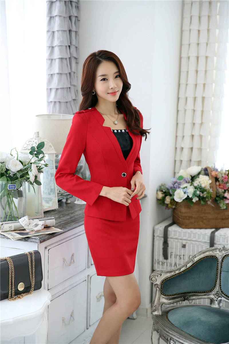 New Formal Uniform Styles Professional Business Suits With Jackets And Skirt Ladies Office Blazers Clothing Sets