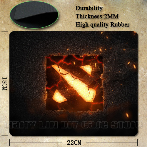 6 Piece Choice Dota 2 logo Rubber Soft gaming mouse Cool Games black mouse pad(China (Mainland))