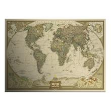 Große Jahrgang welt Karte hauptdekoration detaillierte antiken plakatwand Diagramm retro papier matt kraftpapier 28*18inch karte der welt(China (Mainland))