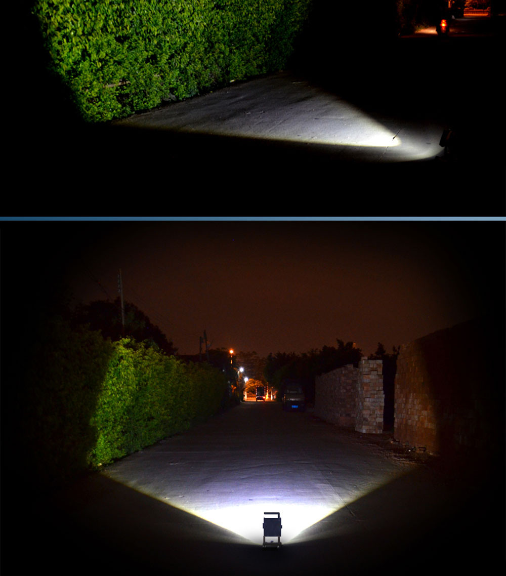 Portable Rechargeable LED Floodlights XML T6 15W  Flood Light 18650 Spot Light Power Bank Function with Battery & Charger