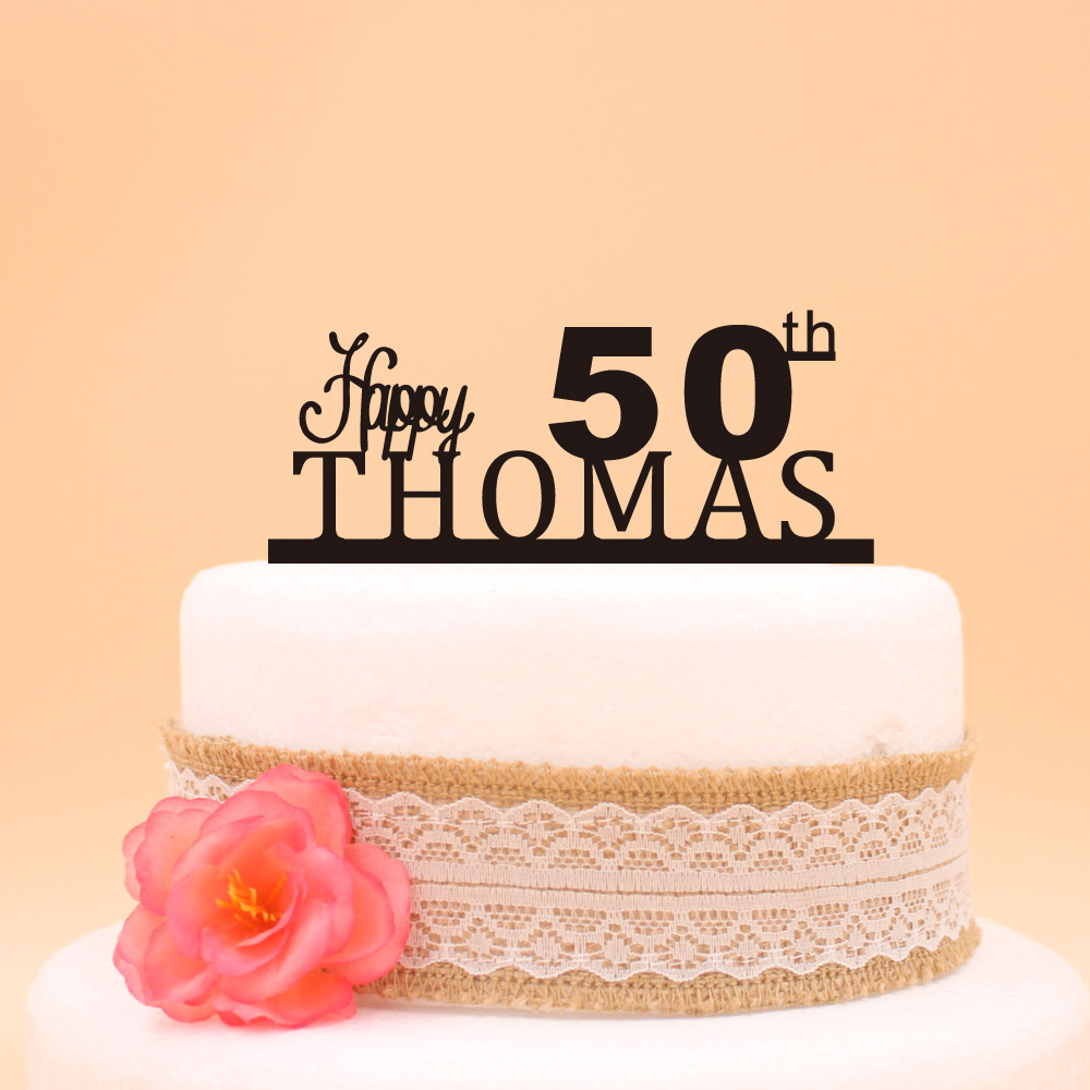 Popular 50th Anniversary Cake Toppers-Buy Cheap 50th ...