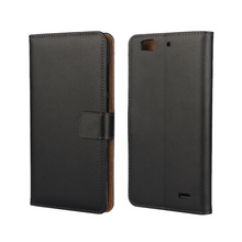 Luxury Wallet Real Genuine Leather Flip Cover Case for ZTE Blade S6 Plus