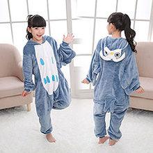 Pijamas infantis meninos meninas pijama unicórnio de unicornio unicorne infantil meninos quentes de Inverno Animal Pijamas para 4 6 8 10 12 Y(China)