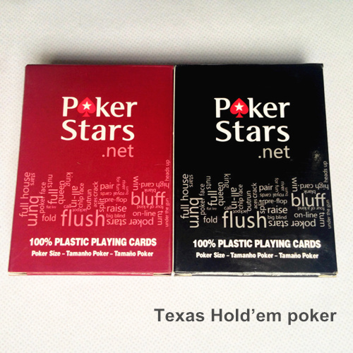 High quality plastic poker cards set for Texas Holdem poker stars Waterproof and dull polish playing card zakka Board games 5029(China (Mainland))