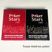 Di alta qualità di plastica carte da poker set per il texas holdem poker stars impermeabile e polacco dull carta da gioco zakka giochi da tavolo 5029(China (Mainland))