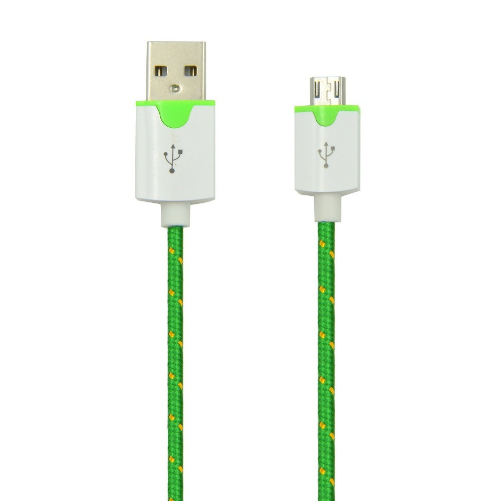 2015 2M 6ft FEET Nylon Braided Portale Micro USB 2.0 SYNC Data Cable Cord Charger For Samsung Galaxy HTC and Most Android Phones(China (Mainland))