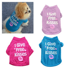 Buy Lovely Pet Dog Shirts Puppy Cotton Vest Clothes Spring Clothing Summer Casual Sportswear Small Pet Give Free Kisses15 for $1.48 in AliExpress store