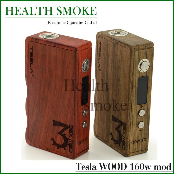 Фотография 2015 Genuine Tesla 160W TC Wood Box Mod With Temperature Control 7W-160W fit 18650 battery tesla 160w wood box mod