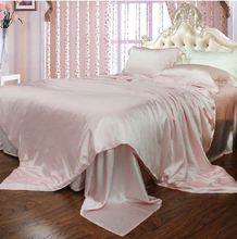 White pink color 100% mulberry silk duvet cover 16.5 mm  seamless non patchwork super width  Super Queen king size quilt cover(China (Mainland))