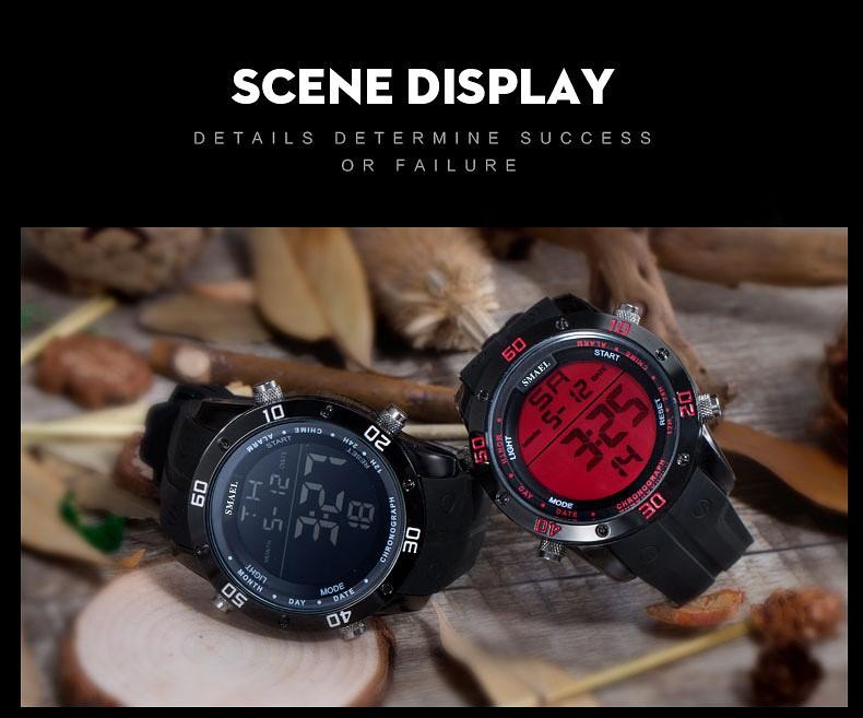 2016 Новый Бренд Спортивные Часы Мужчины Военные Спортивные Часы Мода Силиконовой Водонепроницаемый СВЕТОДИОДНЫЕ Электронные Часы Для Мужчин Часы цифровой часы