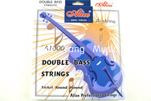 Alice A1000 Upright Bass Strings Double Bass Strings 1st-4th Nickel Round Wound Strings(China (Mainland))