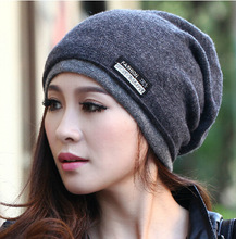 2015 High Quality  Warm Wool Caps Knitted Beanies Hat Infinity Scarf Winter Skullies Cap For Woman and Men(China (Mainland))