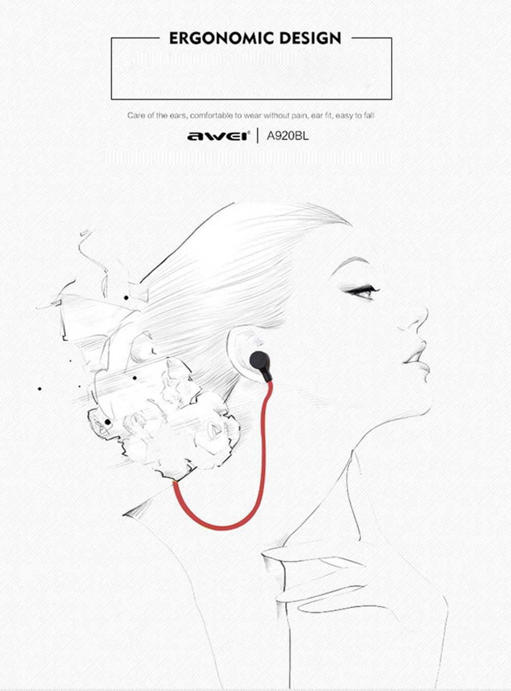 Original Awei A920BL Wireless Bluetooth Headphones With Micrphone Earphone Headphone Sports Stereo Noise Reduction For iphone