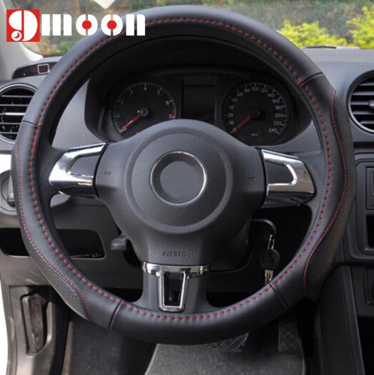 ABS Chrome trim accessories For Volkswagen /VW /GOLF 6 MK6 /POLO /JETTA MK5 MK6 bora Steering Wheel sticker(China (Mainland))