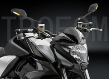 Motorcycle Mirror Aluminium CNC Rearview & Turn Signal LED Light For Rizoma VELOCE NAKED KAWASAKI Benelli Hyosung Honda KTM BMW(China (Mainland))