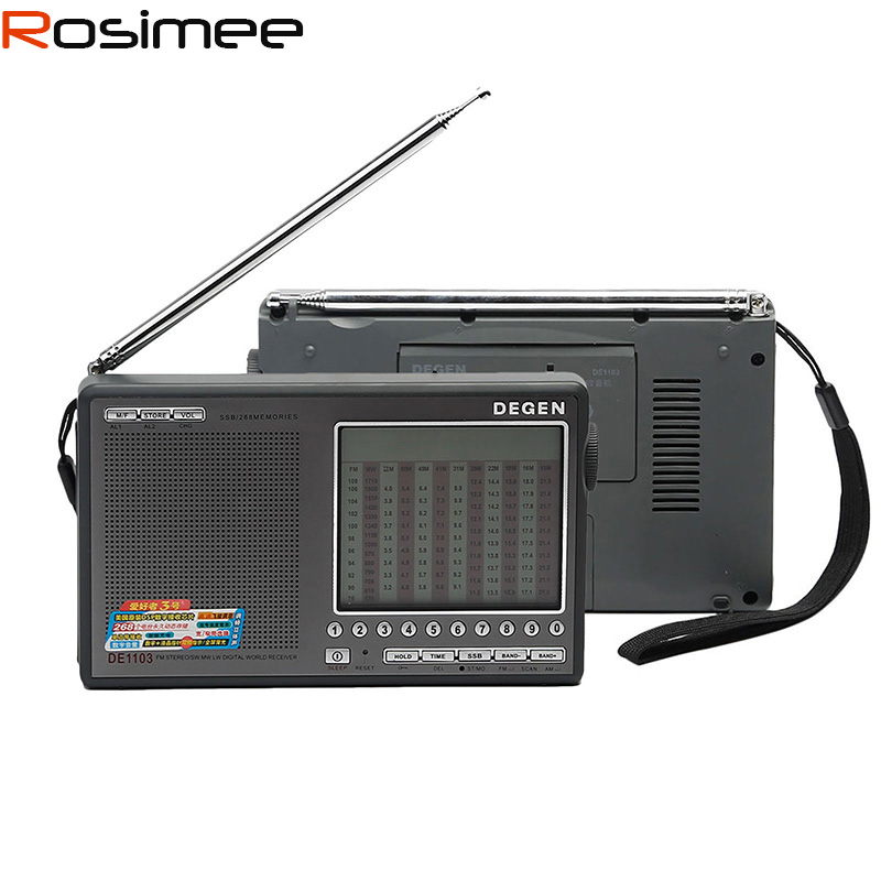 DEGEN DE1103 Tragbare Radio FM/SW/MW/LW SSB Digitaler Radio Receiver World Brand Portable Radio(China (Mainland))
