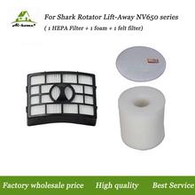 Для Акулы NV650 HEPA Пены и Чувствовал Фильтр Набор Подходит для ротатор Лифт От NV650 NV652 NV750W NV751 Пылесосы Части # XFF650 и XHF650