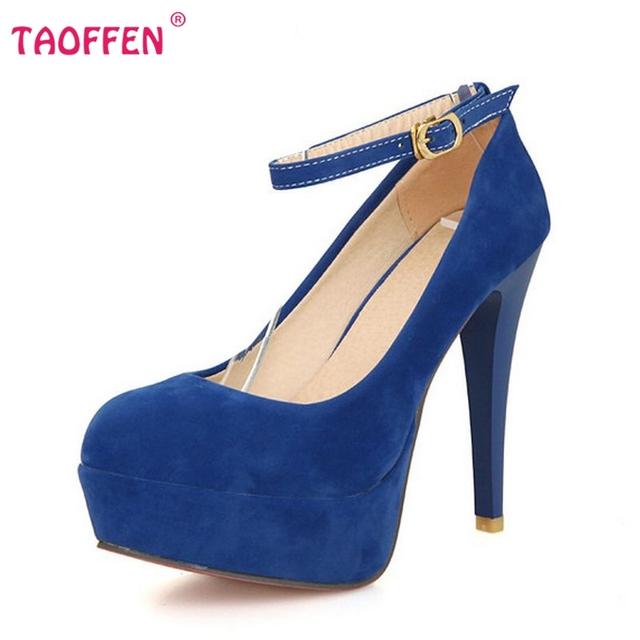 Женщины платформа stiletto туфли на высоких каблуках обувь сексуальная марка партия ...