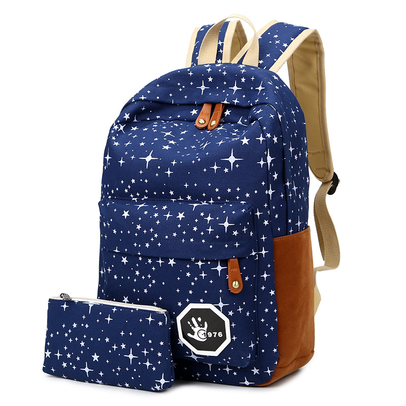 2016 Summer New Fashion Women Canvas Backpack with Purse Geometric Printing School Bag for Students Preppy Style College Bag(China (Mainland))