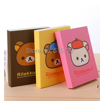 Korean Stationery Japaneser Style Kawaii Cute Cartoon Daily Memos Rilakkuma Notebooks & Writing Pad Office School Supplies - Funny Bunny's Sweet Store store
