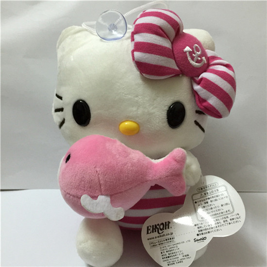 1PCS Hello kitty Stuffed Plush Toys Cheap cartoon dolls children kids girl Birthday Christmas New Year Gifts kt cat toy(China (Mainland))